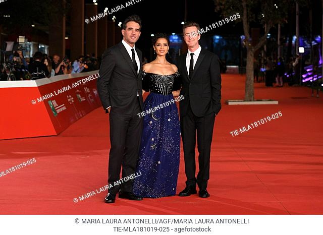 Bobby Cannavale, Gugu Mbatha-Raw, Edward Norton during the red carpet of film Motherless Brooklyn at the 14th Rome Film Festival, Rome, ITALY-17-10-2019