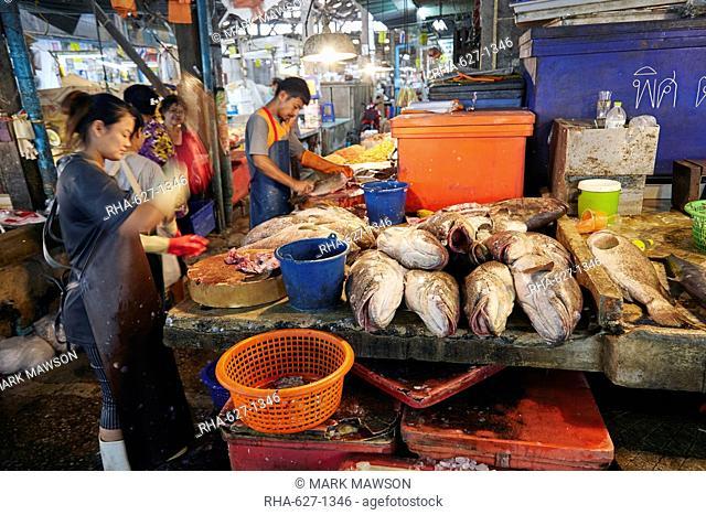 Fish Market at Samut Sakhon, Bangkok, Thailand, Southeast Asia, Asia