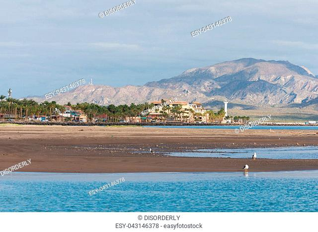 Beach resort on the Sea of Cortez, Loreto, Baja California, Mexico