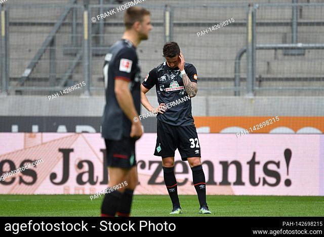 Marco FRIEDL (Werder Bremen), Enttaeuschung, frustrated, disappointed, frustratedriert, dejected, Soccer 1st Bundesliga season 2020/2021, 33rd matchday