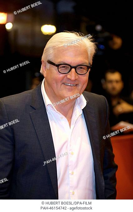 German foreign minister Frank-Walter Steinmeier arrives for the screening of 'The Monuments Men'during the 64th annual Berlin Film Festival, in Berlin, Germany