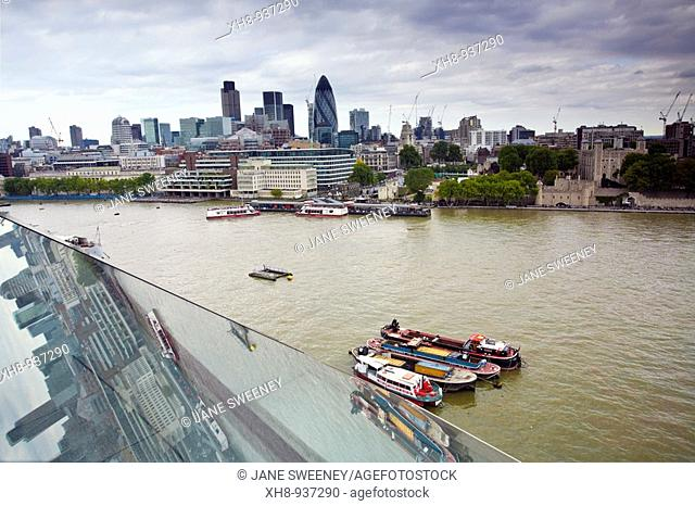 Thames River as seen from City Hall, London, England, UK