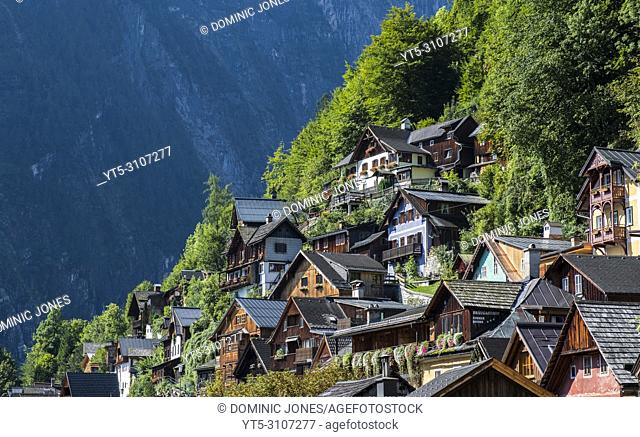 Houses at Hallstatt, Upper Austria, Austria, Europe