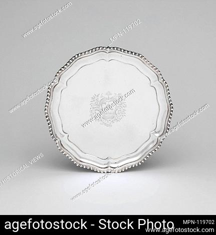Salver. Date: 1760-70; Geography: Probably made in New York, New York, United States; Culture: American; Medium: Silver; Dimensions: 1 1/4 x 7 7/8 in