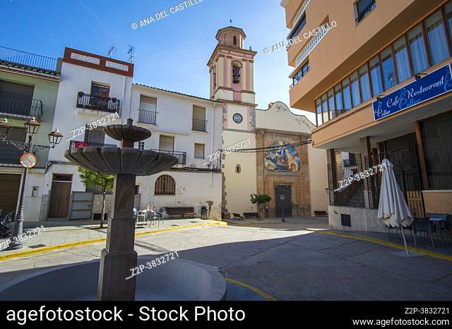 Sueras Castellon Plana Baja county Spain cityscape The baroque church