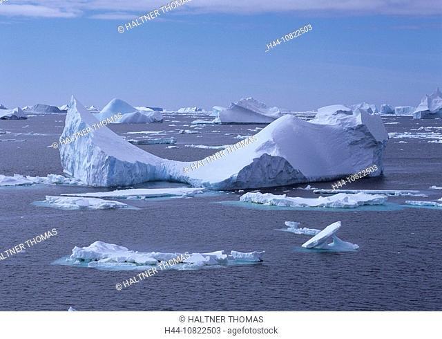 Antarctic, Antarctic, Antarctic Ocean, cruise, ice scenery, scenery, landscape, drift ice, Icebergs, Iceberg, floes, i