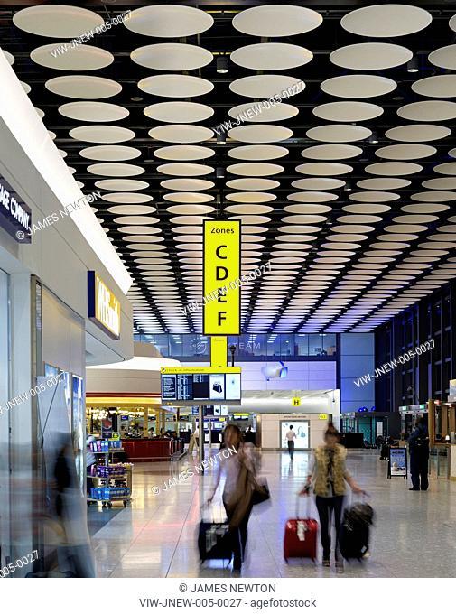 HEATHROW AIRPORT TERMINAL 4 DEPARTURES 2010 INTERIOR VIEW, HOUNSLOW, UNITED KINGDOM, Architect