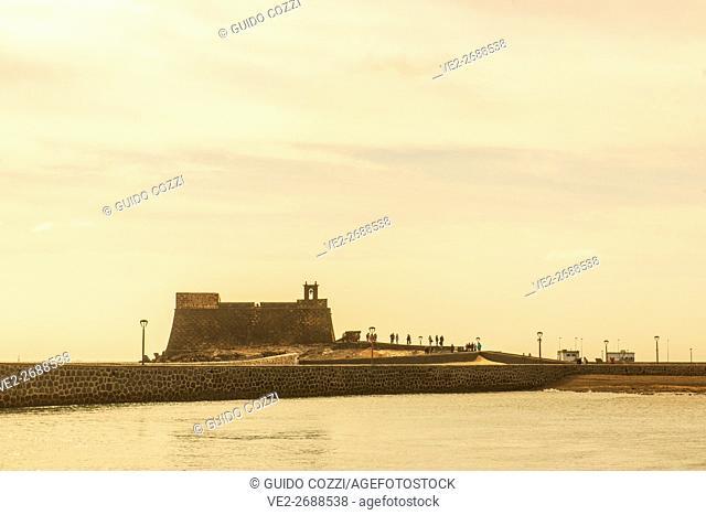 Spain, Canary Islands, Lanzarote, Arrecife, San Gabriel Castle