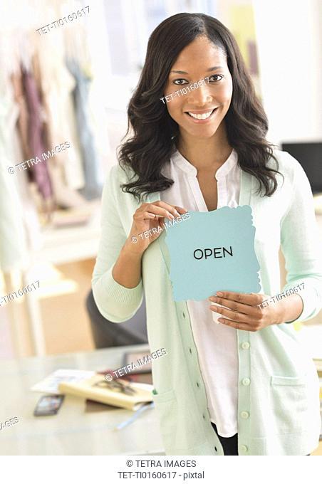 Portrait of female entrepreneur in workplace