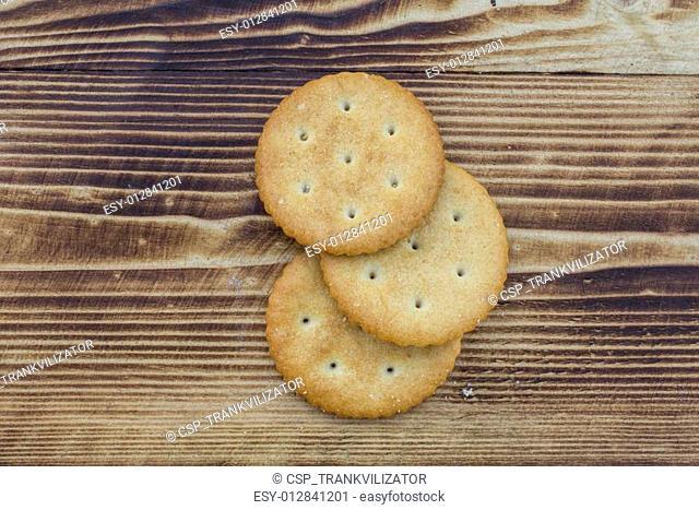 Cookies on wood
