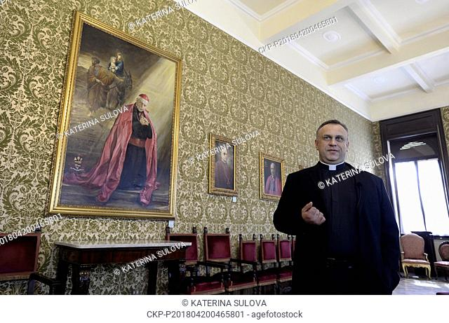 Rector Petr Sikula is seen in the Nepomucenum Papal college in Vatican in April 20, 2018. The remains of Cardinal and Prague Archbishop Josef Beran (1888-1969)...