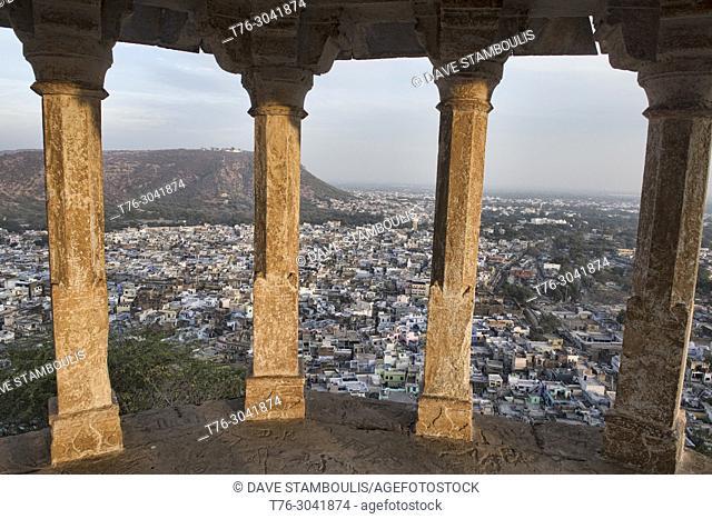 The blue city of Bundi, seen from Mordi Ki Chhatri, Bundi, Rajasthan, India