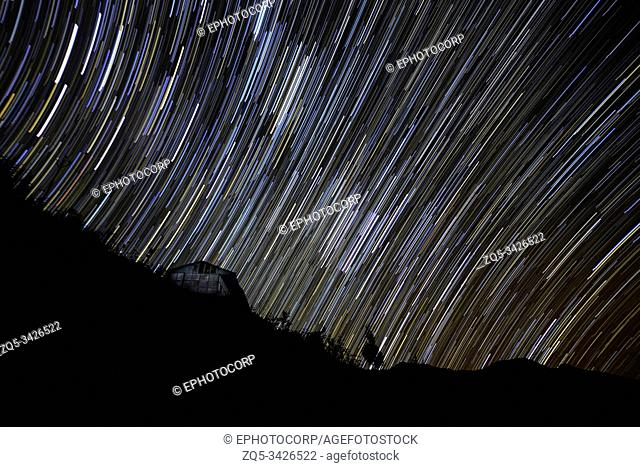Nightsky with Star trails, Mishmi Hills, Arunachal Pradesh, India