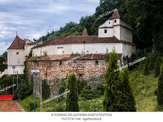 Part of old fortifications called Weaver's Bastion in Brasov, Romania