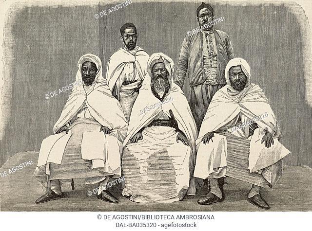 The Moroccan Delegation in Italy, illustration from Il Secolo Illustrato della Domenica, Year II, No 39, June 29, 1890
