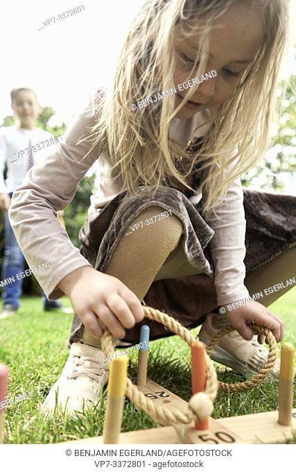 Kids playing game in garden