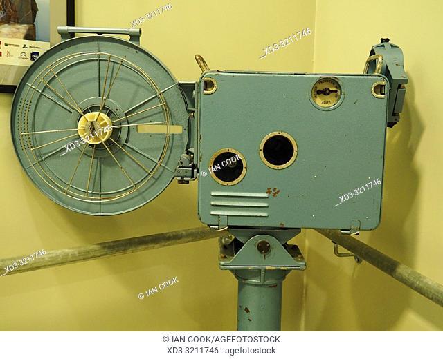 old film projector, Rex Cinema, Sarlat-la-Caneda, Dordogne Department, Nouvelle-Aquitaine, France