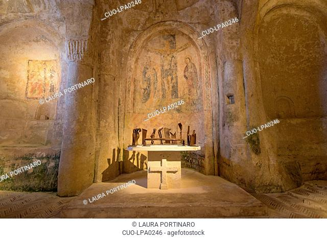 Madonna delle Virtù and San Nicola dei Greci, Civita, Matera, Lucania,Basilicata, South Italy, Italy, Europe