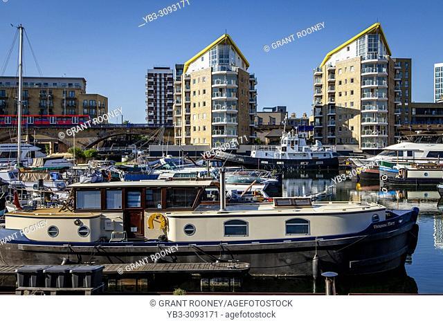 Limehouse Marina, Limehouse Basin, London, United Kingdom