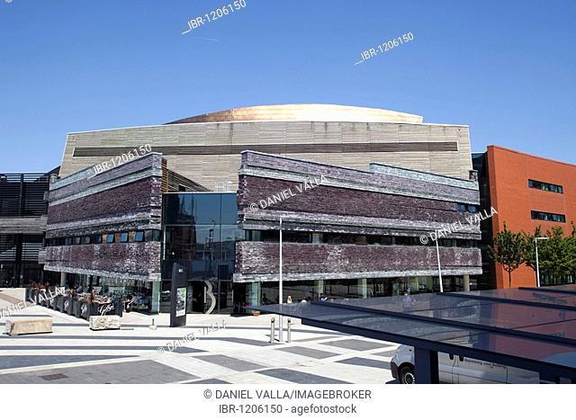 Canolfan Mileniwm Cymru, Wales Millennium Centre, Cardiff Bay, Wales, United Kingdom, Europe