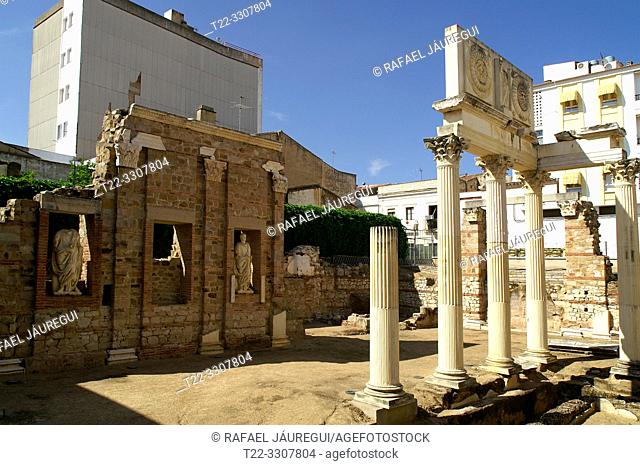 Merida (Spain). Roman Monumental Enclosure in the city of Merida