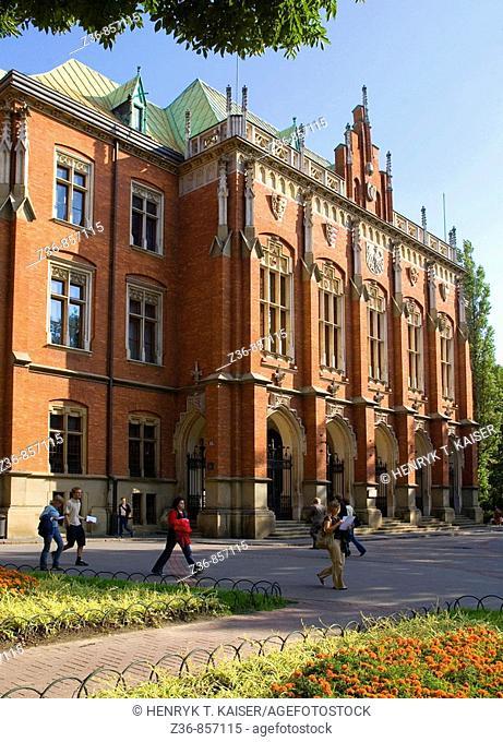 Poland, Krakow, Collegium Novum of Jagiellonski University
