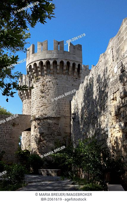Palace of the Grand Master of the Knights of Rhodes, castle of the knights of St. John, historic centre of Rhodes, Greece, Europe