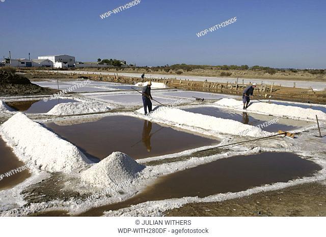 Desternation Spain (South) Isla Christina collect salt just outside town