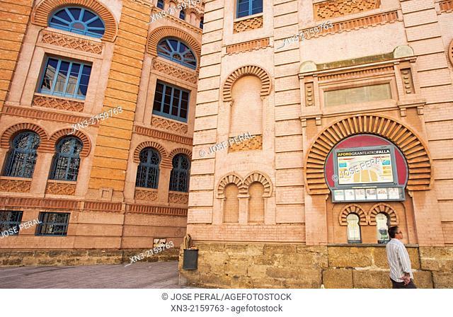 Gran Teatro Falla, Great Theatre Falla, Cádiz City, The Costa de la Luz, Province of Cádiz Andalusia, Spain, Europe