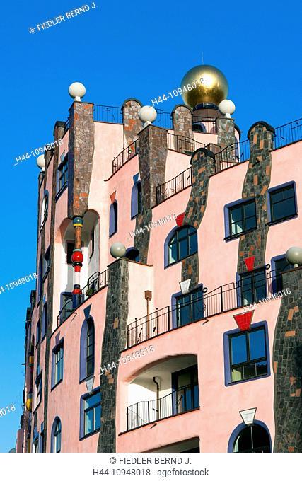 Europe, Germany, Saxony-Anhalt, Magdeburg, Breiter Weg, green citadel, green stronghold, Hundertwasser, house, home, Friedensreich Hundertwasser, architecture