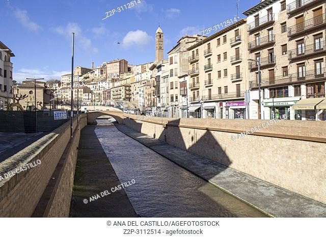 Tarazona de Aragon is a historic town in Aragon Spain on March 3, 2018