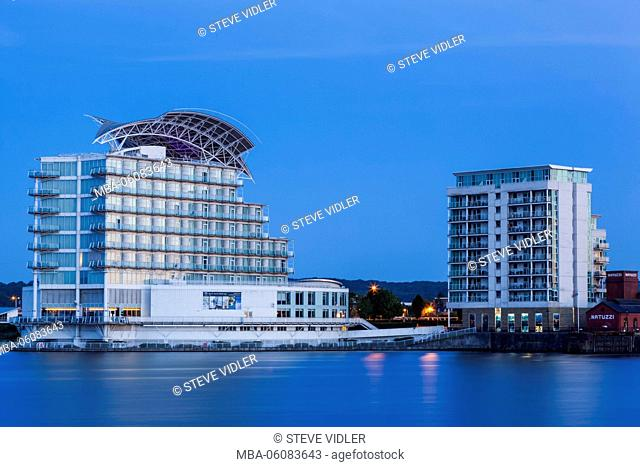 Wales, Cardiff, Cardiff Bay, St David's Hotel and Waterfront Apartments