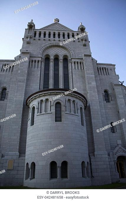 The Famous Sainte-Anne-de-Beaupre Catholic Church in Quebec Canada near Quebec City
