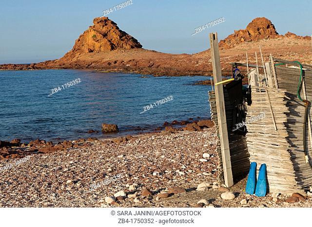Shower beach, Ras Dihamri Marine Reserve, Socotra island, listed as World Heritage by UNESCO, Aden Governorate, Yemen, Arabia, West Asia