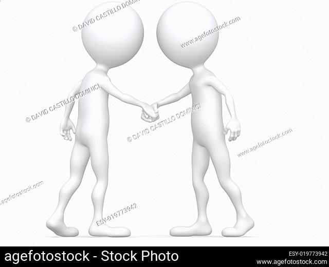 3d Close-up two businessmen shaking hands