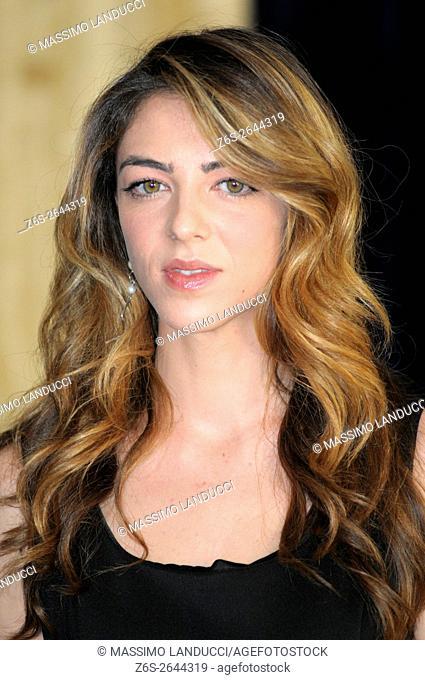 Giulia Andò; andò; actress; celebrities; 2016; rome; italy; event; photocall ; le confessioni