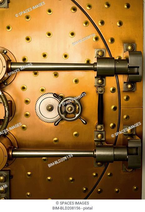 Tumbler on a Vault Door