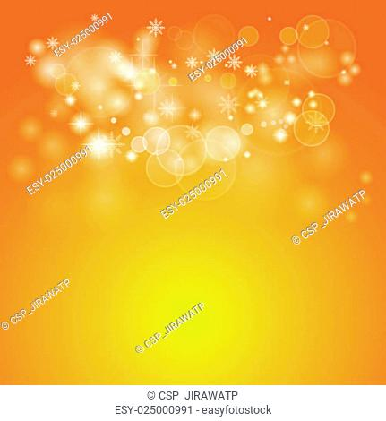 Orange vector bokeh background