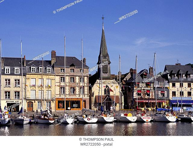 90900347, Old Port, Honfleur, Calvados, Normandy