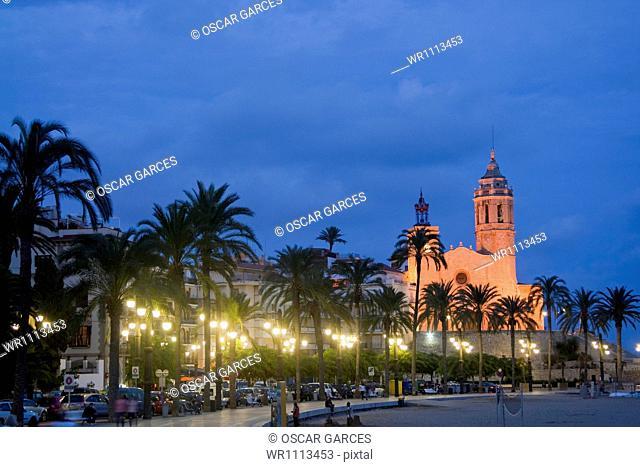 Church of Sant Bartomeu, San Bartolome del Grau, Barcelona Province, Barcelona, Catalonia, Spain, Western Europe
