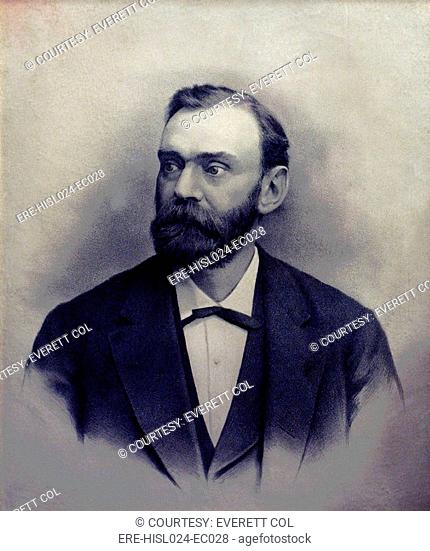 Alfred Berhard Nobel 1833-1896 Swedish chemist and engineer invented a detonator used with dynamite and nitroglycerin. From the fortune he made from his...