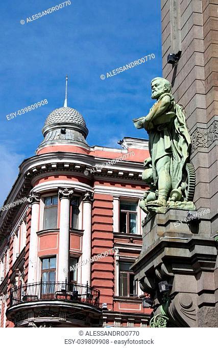 Renaissance building in in St. Petersburg, Russia