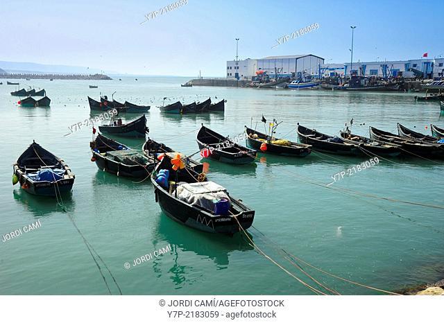 Sidi Ifni harbor. Morocco .North Africa