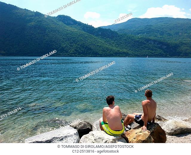 Italy, Como lake, Abbadia Lariana locality, Summer