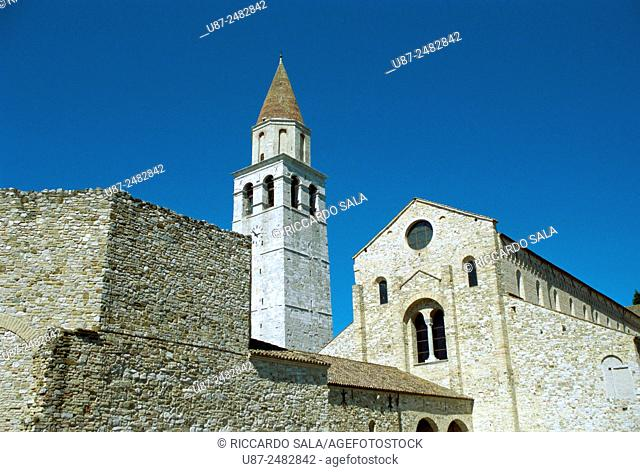 Italy, Friuli Venezia Giulia, Aquileia, Basilica. . . .