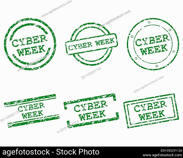 Cyber-week Stempel - Cyber-week stamps
