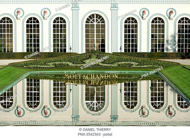 France. Champagne-Ardenne. The Marne. Epernay. Avenue of Champagne. The company of wine of Champagne Moet et Chandon. The orangery of the castle