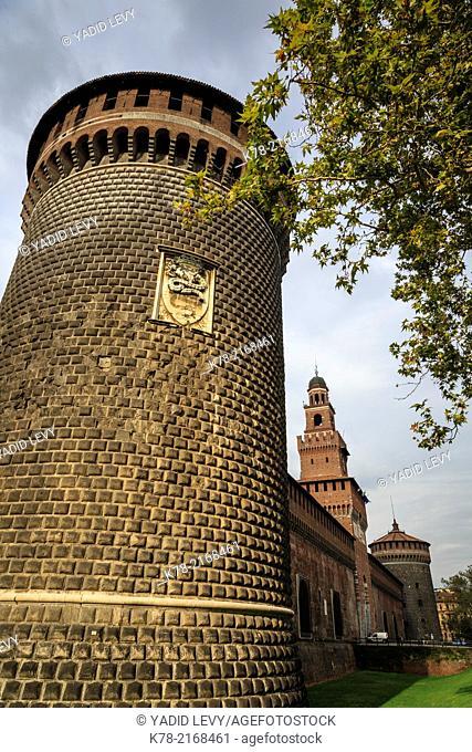 Castello Sforzesco, Sforza Castle, Milan, Italy