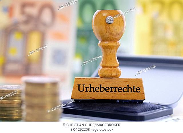 Stamp labelled with Urheberrechte, German for Copyright