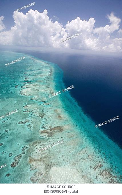Aerial view of barrier reef